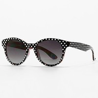 Women's Vanity Sunglasses in Black/White by Daytrip.