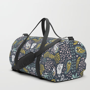 Bohemian Rhapsody Midnight Duffle Bag by Heather Dutton
