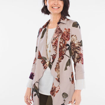 Chico's Soft Floral Jacket