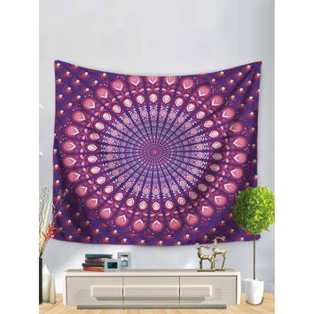 Symmetrical Flower Print Tapestry