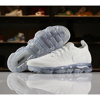 Nike Air VaporMax Flyknit 2018 2.0 Triple White 942842-100 Sport Running Shoes