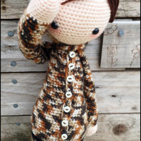 Handmade Crochet Soldier Doll - Private Laly - Lalylala Mod