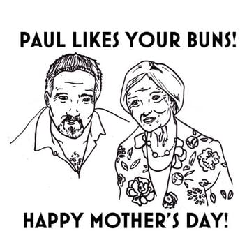 great british bake off card funny mothers day mum mom mummy illustration paul hollywood drawing baker