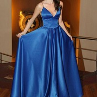 Long Royal Blue Prom Dress, Royal Blue Evening Dresses