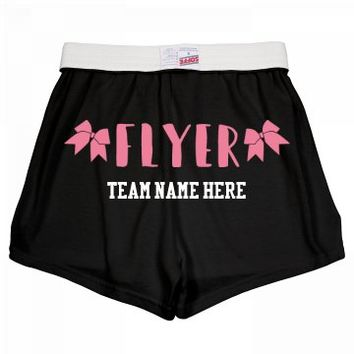 Cheerleader Flyer Custom Shorts