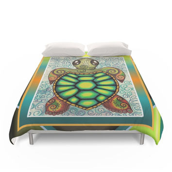 Society6 Baby Sea Turtle Duvet Cover