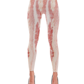 Bacon Strips Print Leggings