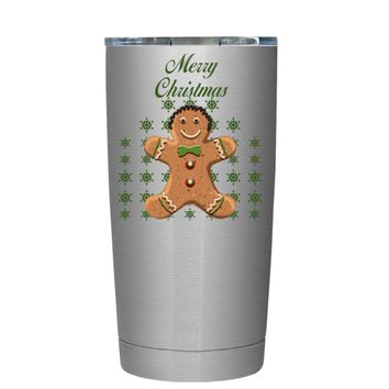 TREK Merry Christmas Gingerbread Man 20 oz Tumbler Cup