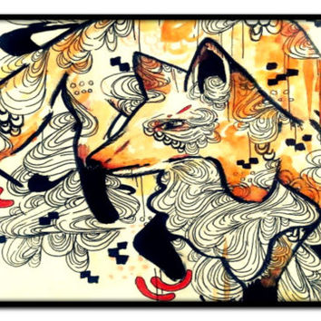 Laptop Case - Laptop Cover - Fox Laptop Case - Animal Laptop Case - Animal Art - Fox art - Laptop cover - Laptop sleeve