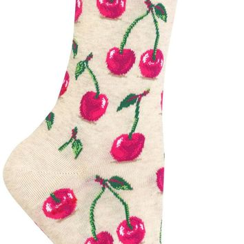 Cherry Women's Crew Socks