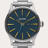 Nixon Sentry Ss Watch Navy Combo One Size For Men 26471621101