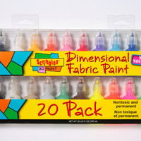 Scribbles® 3-Dimensional Fabric Paint 20 Pack