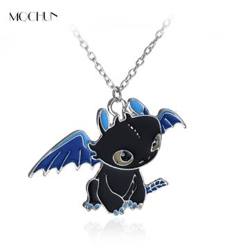 MQCHUN Cartoon Anime Necklace How To Train Your Dragon 2 Toothless Night Fury Lovely pendant Children Necklace Collier Unisex