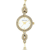 Anne Klein Ladies Gold Tone and Swarovski Crystal Bracelet Watch
