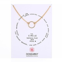 Simple Ring Pendant Card Alloy Clavicle Pendant Necklace  171208