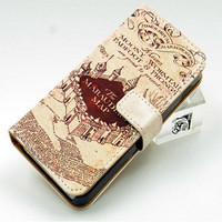 Marauder's Map Iphone 5/5s Wallet Case