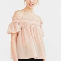 Lucca Couture Ruffle Off-The-Shoulder Blouse