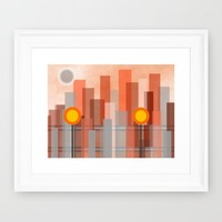 Uptown Framed Art Print by Kathleen Sartoris