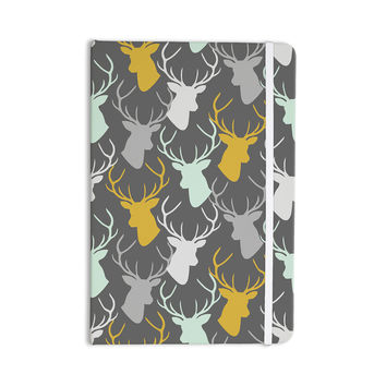 "Pellerina Design ""Scattered Deer"" Gray Everything Notebook"