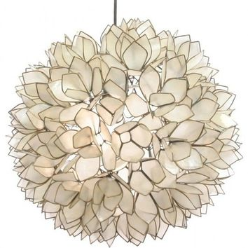 Lotus Flower Chandelier - contemporary - chandeliers -  - by Island Woods