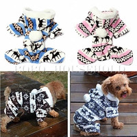 Dog Pet Winter Snowflake Hoodie Jumpsuit Coat Doggy Warm Sweatshirt Clothes = 1932535428