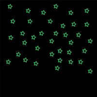 Lovely Pets Factory Price 40PCS Kids Bedroom Fluorescent Glow In The Dark Stars Wall Stickers or poster Aug16