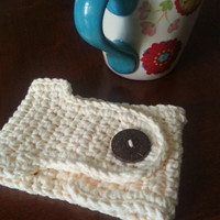 Coffee Mug Cozy in Cream