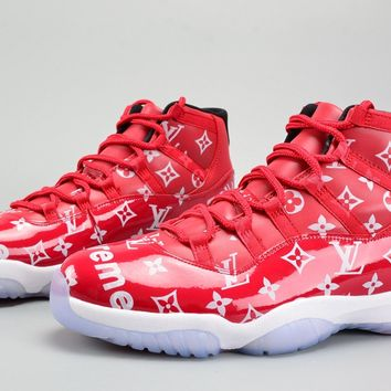 Custom Supreme X Air Jordan 11 Gym Red-white - Beauty Ticks