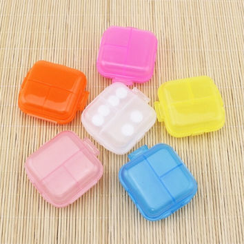 Portable Removable 3 Slots Plastic 1 Layers Storage Case Jewelry Box Organizer  Tool New
