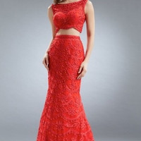 Kari Chang KC23 Lace Two Piece 2015 Prom Dress