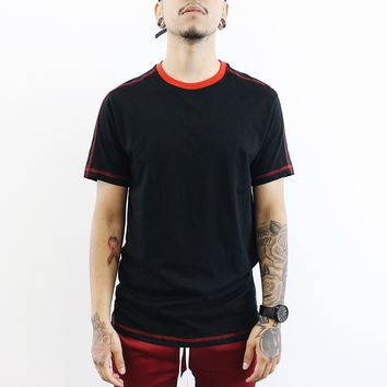 James Ringer Tee (Black/Red)