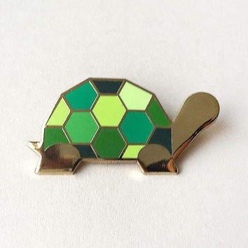 Green Tortoise Brooch By Sketch Inc