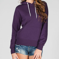 Full Tilt Essential Womens Hoodie Dark Purple  In Sizes