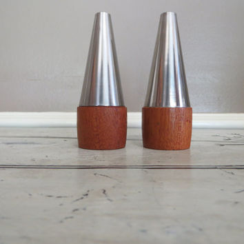 Danish Modern Salt and Pepper Shakers Mid Century Modern