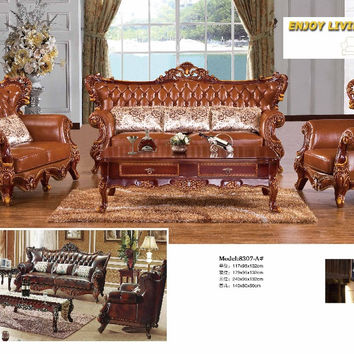 2016 Antique Chaise No Set Bean Bag Chair Living Room Sectional Sofa European Style Leather Hot Sale Factory Direct Sell Sofas