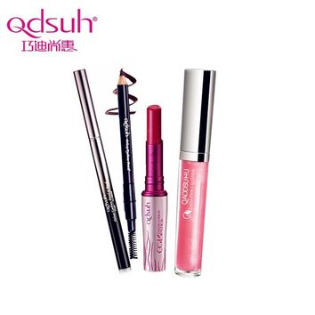 Qdsuh 3pcs/set The Popular Base Cosmetic Kit Makeup Lip Gloss Lip Stick Brow Pencil Eyebrow Pencil Waterproof Daily Use