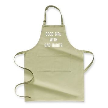 Good Girl With Bad Habits, Funny Apron