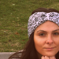 White black headband,knitted hairband,women accessories,headgear,winter headband