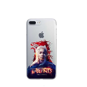 Game Of Thrones Daenery Targaryen Red House Stark Phone Case For iPhone 7 7Plus 6 6s Plus 5 5s SE
