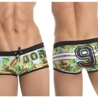 0275 Papaya Swim Trunks Color Printed
