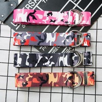 new fashion camouflage belt women and men belt