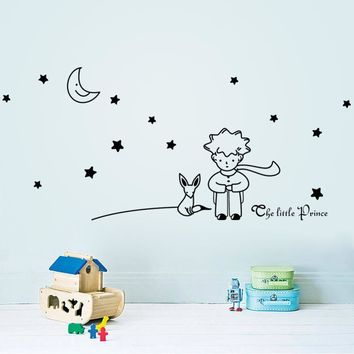Stars Moon The Little Prince Fox Graphic Wall Vinyl