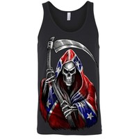 Men's Tank Top Confederate Rebel Flag Grim Reaper