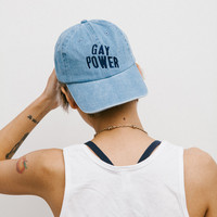 Gay Power denim cap