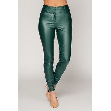 What You Do To Me Faux Leather Pants (Hunter Green)