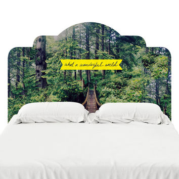 What A Wonderful World Headboard Decal