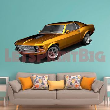 Mustang Muscle Car WALL DECAL REMOVABLE REPOSITIONABLE