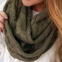 Warm Me Up Scarf - Olive