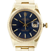 Vintage Rolex Date 14K Yellow Gold Rivet by VINTAGE ROLEX WATCHES - Moda Operandi