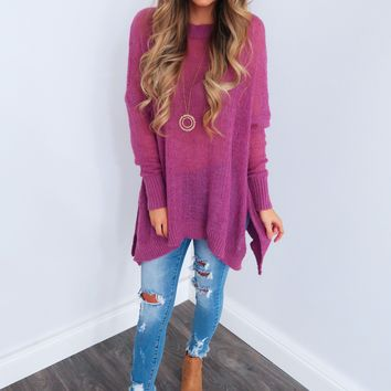 Express Yourself Sweater: Orchid